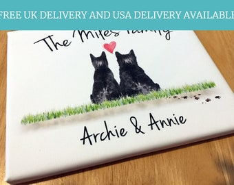 Two Cats, Personalized, Cat Memorial Art, Cat Loss Gift, Cat Sympathy Gift, Cat Condolence Gift, Cat Lover Print