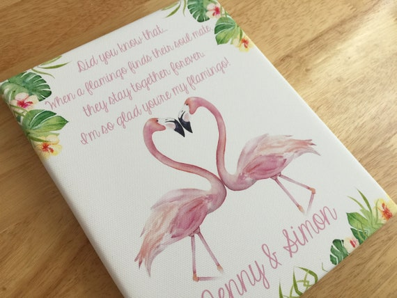 1st anniversary gift personalised flamingo themed gift cute valentines day gifts