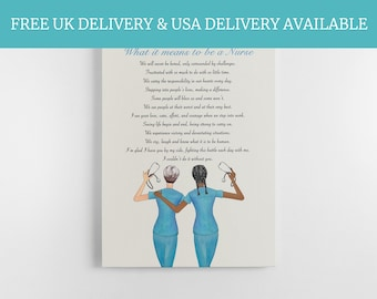 Personalised Midwife Print, Nurse Print, Thank you gift, Best Friend Print, Doctor Print, Scrub Life, Thank you nurse, Nurse Team