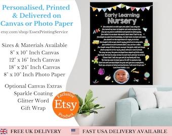 Personalised Teacher gift print / End of Year Class gift / Bespoke Teacher Appreciation Gift / Class of 2021 / Teacher Thank You / Canvas