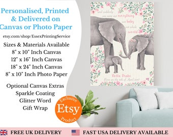 Mothers Day Gift - Elephant animal family home decor living room mothers day fathers day christmas babies nursery grandparents gift