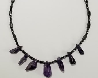 Magnetic Therapy Amethyst Necklace