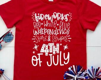 7ed944f8 Fireworks Shirt, Fireworks, Fireworks T Shirts, Fourth of July Shirt, 4th  of July Shirt, 4th of July, Independence Day, Stars and Stripes