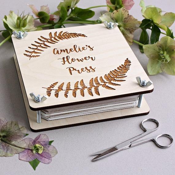 Personalised Botanical Flower Press Etsy
