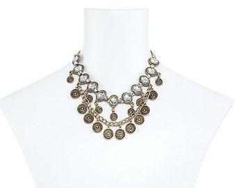 Oval Rhinestone Necklace