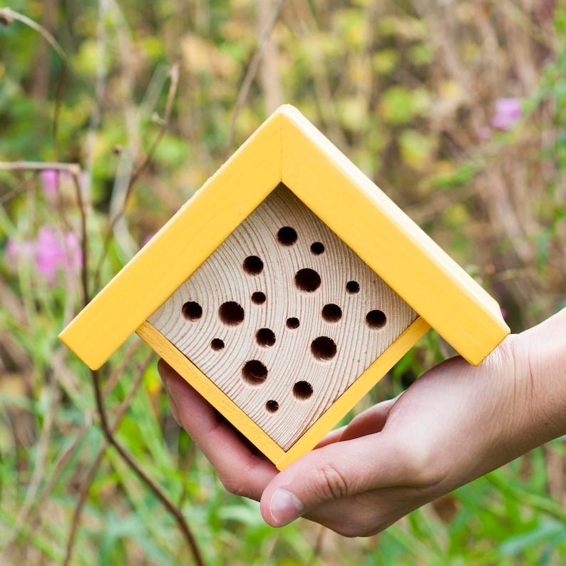 Bee Hotel  Mini Bee House  Gift for Gardeners  Housewarming image 0