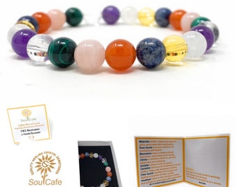 PMS & Menstruation Crystal Bracelet - Power Bead Bracelet - Crystal healing Gemstone Bracelet - Soul Cafe Gift Box and Tag