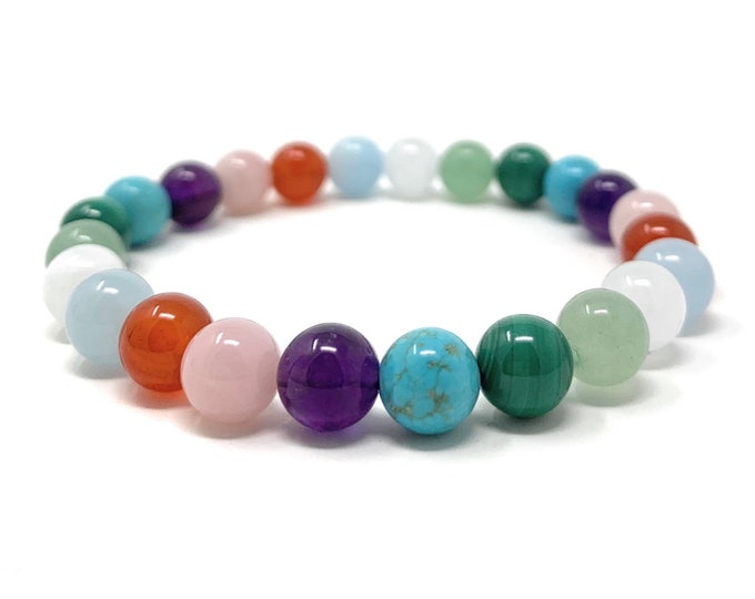 Fertility & Pregnancy Crystal Bracelet - Power Bead Bracelet - Gift Box and Information Tag - Size choices