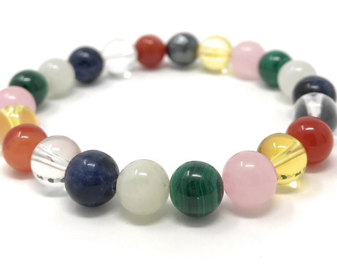 PMS & Menstruation Crystal Bracelet - Power Bead Bracelet - Crystal healing Gemstone Bracelet - Size choices