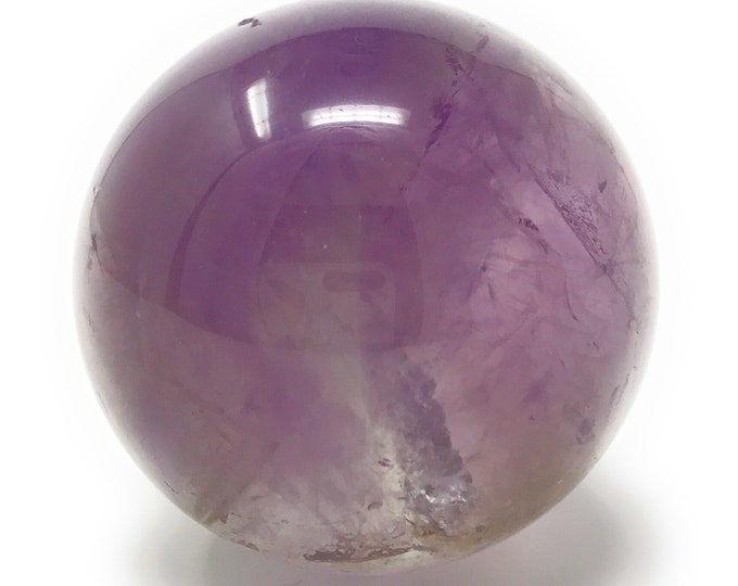 "Amethyst Sphere 45mm (1.7"") Healing Crystal Sphere.  Chakra Crystals. Gift Packed. Crystal Information Tag"