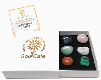 Fertility, Pregnancy & Childbirth Tumblestone Gift Set - Healing Crystal Gemstones
