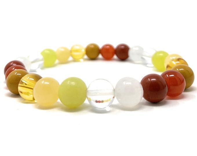 Positive Energy Power Bead Bracelet - Quality Healing Gemstone Bracelet - Crystal Bead Bracelet - Vitality Bracelet - Joy Crystals