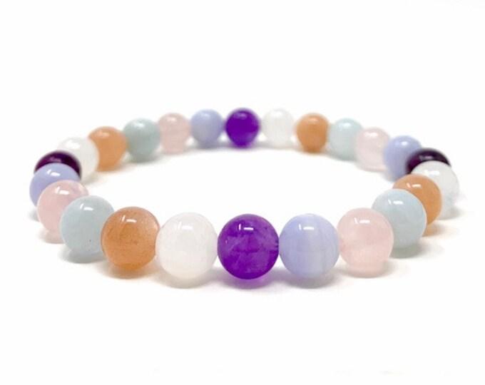 Stress & Anxiety Power Bead Bracelet - Healing Crystal Gemstone Gift - Power Bracelet - Stress Relief Bracelet