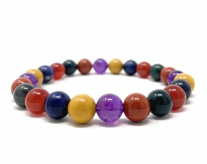 Energy, Endurance & Stamina Power Bead Bracelet - Quality Healing Gemstone Bracelet - Gift Box and Information Tag