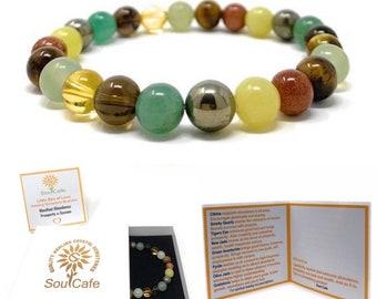 Prosperity Crystal Bracelet - Abundance Crystals - Power Bead Bracelet - Prosperity Bracelet - Healing Crystal Gemstones - Gift Box & Tag