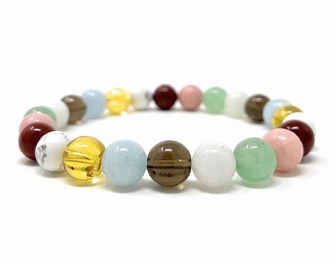 Power Bead Bracelet  - Crystals for Letting go of Past - Letting Go Bracelet - Quality Healing Crystal Gemstone Bracelet - Size choices