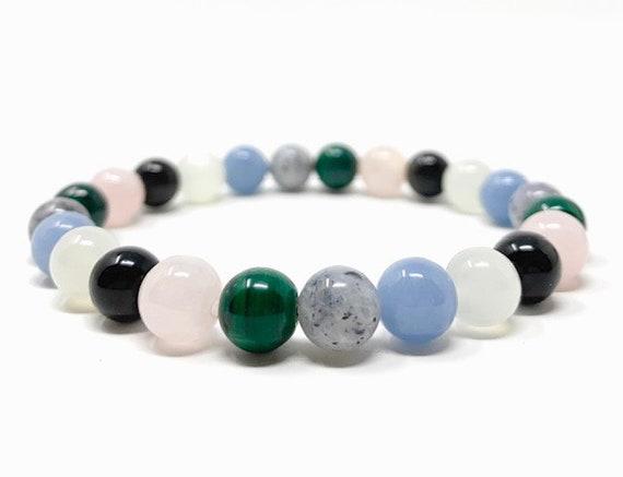 Rose quartz bangle Madagascar Angel Energy Healing Crystal Bracelet Jewelry Box
