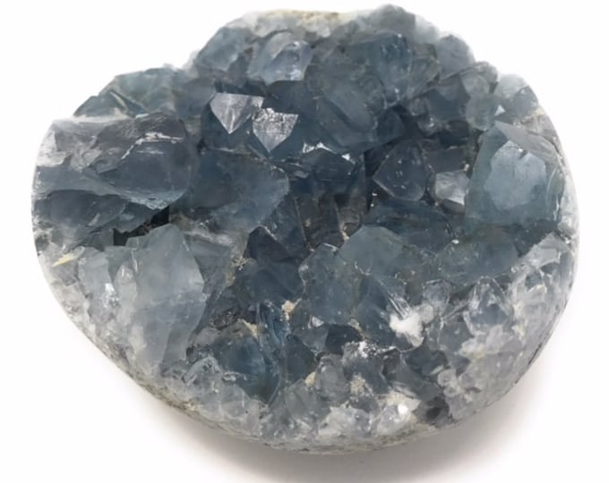 """Celestite Geode Large 100 mm (4""""inches)  - Quality Grade A Healing Crystal - Gift Packed - Crystal Information Tag"""