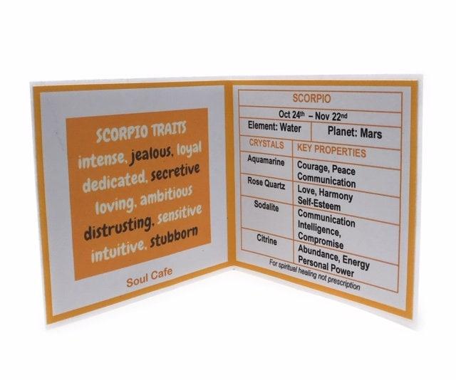 Scorpio Crystal Set - Zodiac Birthstones - Scorpio