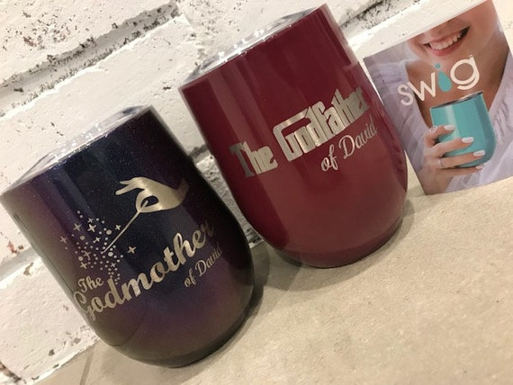 Godmother And Godfather Set Personalized SWIG 12oz