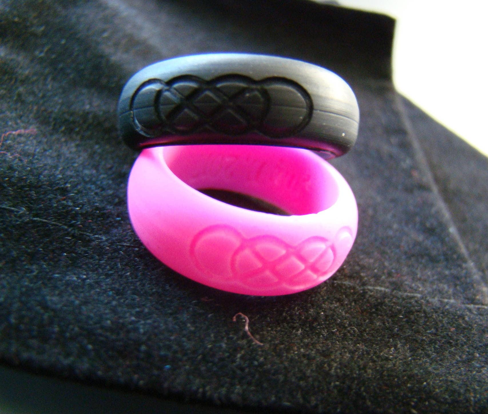Custom Engraved Personalized Silicone Ring Wedding Infinity