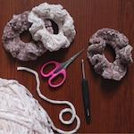 Velvet Scrunchie - Crochet Scrunchies - Velvet Hair Tie - Scrunchie - Velvet Scrunchies - Handmade Scrunchie - Hair Accessory