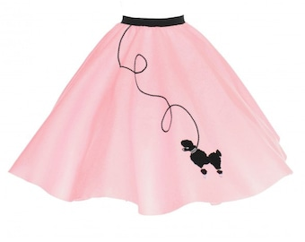 Adult Light Pink 50's POODLE SKIRT