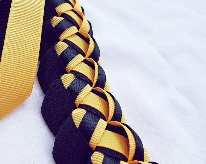 Graduation Lei - Light Gold & Black
