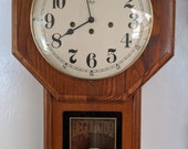 Sligh Oak Schoolhouse Clock with Westminster Progressive Chime