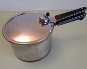 Revere Ware Copper Clad Dial Weight Pressure Cooker c1960