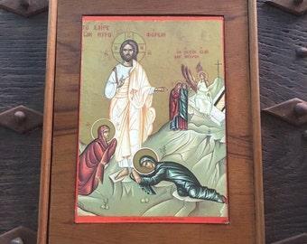 SALE Vintage Religious Icon Plaque Religious