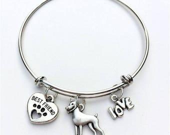 Miniature Pinscher Best Friend Charm Bracelet
