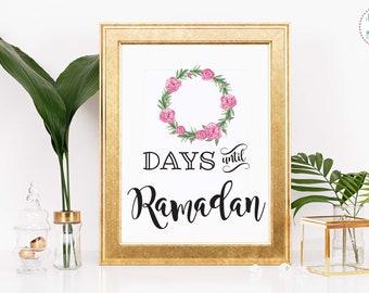 5e32db6182 Printable Countdown to Ramadan whiteboard // Ramadan Advent / ramadaan DIY/  Islamic Muslim Home Decor; Eid Al Fitr; Ramadhan Home Decor
