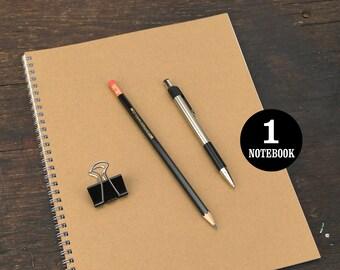Wire Bound Notebook, 8.5 x 11 Inch, Kraft Journal, Sketchbook, Notes, Journal, Kraft, Notebook, Sketchbook, Bulk Journal, Kraft Notebook