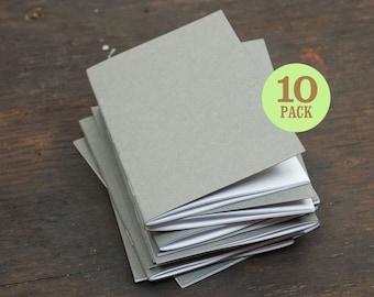 Bulk Notebook, Gray, 3.5 x 5.5 Inch, Sketchbook, Bulk Journal, Blank Page Notebook, Pocket Sketchbook, Blank  Journal, Notebooks. Set of 10.