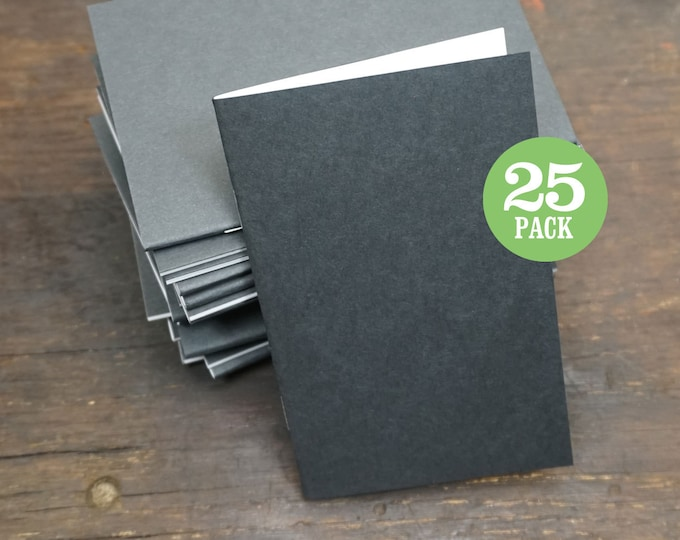 Bulk Notebook, 3.5 x 5.5, Sketchbook, Journal, Notebook, Black, Blank Journal, Blank, Bulk Journal, Blank Notebook, Recycled, Bulk Notebook