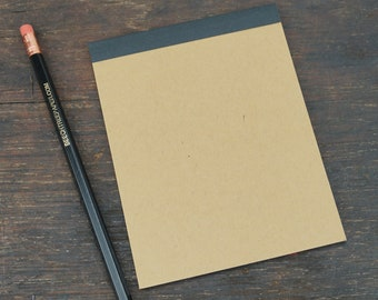 Perfect Bound Reporter Style Kraft Notebooks, 4.25 x 5.5 Inch, Notes, Sketch, To Do Lists, Blank Pages, Travel Notes, Single Notebook