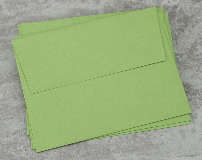 A2 Green Envelopes, Blank Envelopes, Greeting Card Envelope, Greeting Card, Invitation, Made in USA, 4 3/8 x 5 3/4 inches