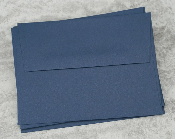 A2 Navy Blue Envelopes, Blank Envelopes, Greeting Card Envelope, Greeting Card, Invitation, Made in USA, 4 3/8 x 5 3/4 inches