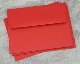 A2 Red Envelopes, Blank Envelopes, Greeting Card Envelope, Greeting Card, Invitation, Made in USA, 4 3/8 x 5 3/4 inches