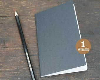 Blank Notebook, 3.5 x 5.5, Sketchbook, Journal, Notebook, Blank Pages, Black Notebook, Journal, Blank Sketchbook, Black, Adventure Notebooks