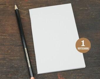 Blank Notebook, 3.5 x 5.5, Sketchbook, Journal, Notebook, Blank Pages, White Notebook, Journal, Blank Sketchbook, White, Adventure Notebooks