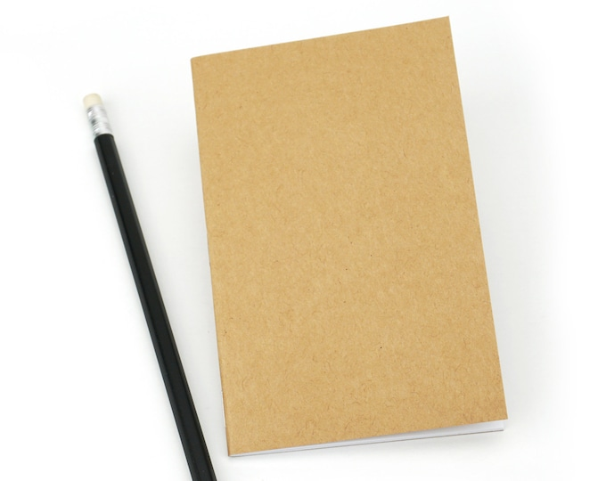 "Bulk Kraft Notebook, Small, Kraft, Value-Priced, Bulk Notebooks, 3.5 x 5.5"", Sketchbook, Blank, Pocket sized. Bulk Pack, 25 or 100 Notebooks"