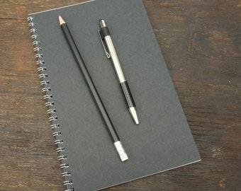 Wire Bound Notebook, 5.5 x 8.5 Inch, Black Journal, Sketchbook, Notes, Blank Journal, Notebook, Sketchbook, Bulk Journal, Black, Notebook