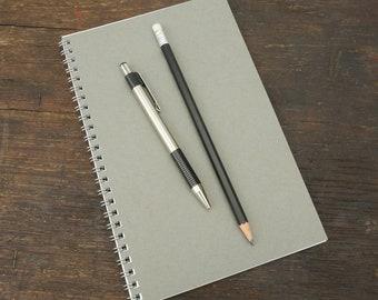 Wire Bound Notebook, 5.5 x 8.5 Inch, Black Journal, Sketchbook, Notes, Blank Journal, Notebook, Sketchbook, Bulk Journal, Gray Notebook