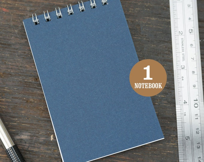 Navy Mini Wire Bound Notebook, 2.75 x 4.25 Inch, Navy Blue, Notes, Blank Notebook, Mini Sketchbook, To Do List, Mini Notebook, Small Notes