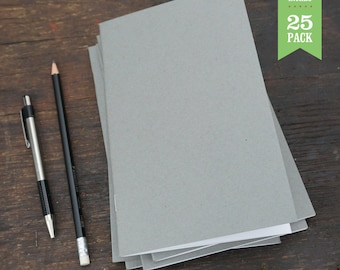 Bulk Notebooks, Gray, Blank Notebook, Sketchbooks, Journals, 5x8. Great for Notes, Sketching, and Journaling. Set of 25.