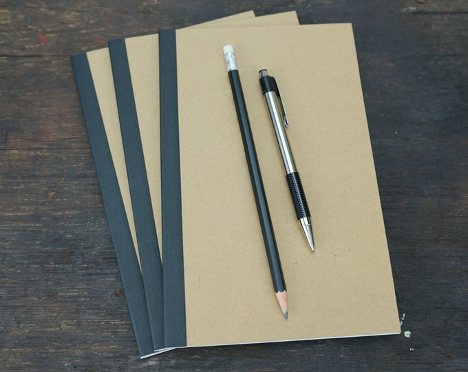 Kraft Notebook, 5.5 x 8.5 Inch, Perfect Bound, Kraft Journal, Sketchbook, Notes, Kraft, Blank Journal, Notebook, Bulk Sketchbook, Bulk Notes