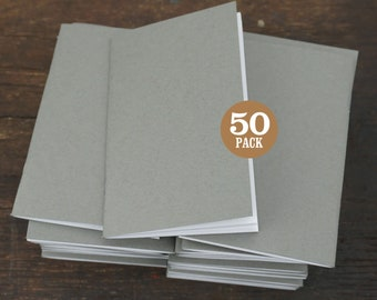 Bulk Notebook, 3.5 x 5.5 Inch, Gray, Journals, Sketchbook, Recycled, Blank Notebook, Assorted Colors, Kraft Brown, Black, White