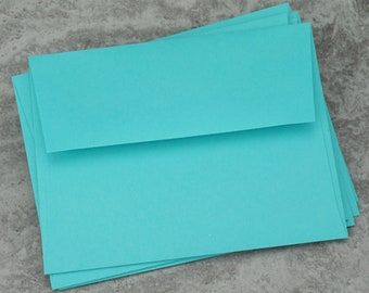 A2 Robin's Egg Blue Envelopes, Recycled Paper, Blank Envelopes, Greeting Card Envelope, Made in USA, Recycled,  4 3/8 x 5 3/4 inches